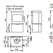 f105 dimensiones